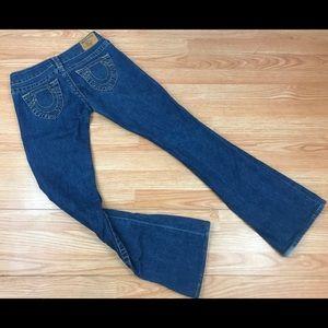 True Religion Bootcut Blue Jeans Size 27 x 32